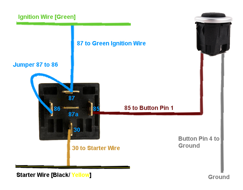 12 Volt Push Button Switch Wiring Diagram
